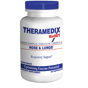 Nose & Lungs supplement supports healthy mucous production, clearing sinuses to give better sinus and lung health.