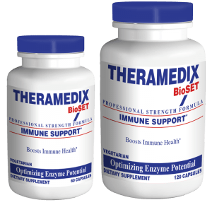 Immune Support enzyme supplement breaks down undigested protein, providing rapid digestion and constipation relief while supporting immune health.