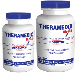 Probiotic supplemental treatment formulated to support healthy intestinal balance, easing stomach pain issues related to digestive system.